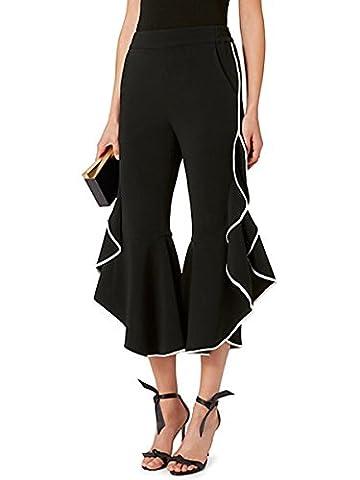 Kinikiss - Pantalon - Evasé - Femme noir noir - noir - Large