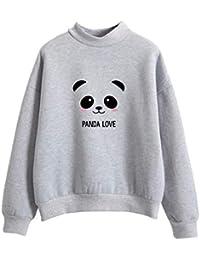 Sweat Shirt Femme, Sweat Ado Fille Mignon Imprimé Panda Automne Sport Pull  à La Mode 2fb242372d8b