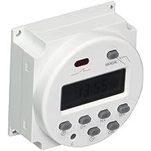 Sourcingmap - Relè Interruttore Da 16A Con Timer Programmabile Ac 220V-240V,Lcd (Relè Interruttore)