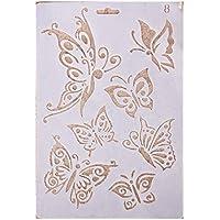Plantillas con diferentes patrones para pintar con aerógrafo, para manualidades y decoración, ...