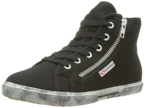 Superga, 2224-COTDW, Sneaker, Donna, Nero (999 Black), 35