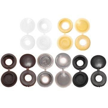 Generic Hinge Plastic Screw Covers Caps 6mm Hole Screw Protector Décor- Parent