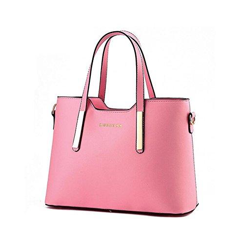 Beatayang Damen Elegant Schultertasche Handtasche Rosa