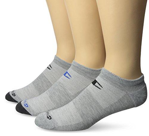 Champion Herren 3-pack Sock (Champion Men's 3 Pack No Show Training Socks, Grey Assortment, 6-12)