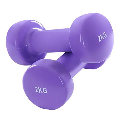 Songmics 2er Set Kurzhanteln Gymnastik Hantel 2 x 2 kg SYL24P