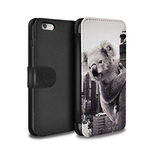 Stuff4 Coque/Etui/Housse Cuir PU Case/Cover pour Apple iPhone 6S / Travaux Routiers Design / Vers Bas Sous Collection Roi Koala