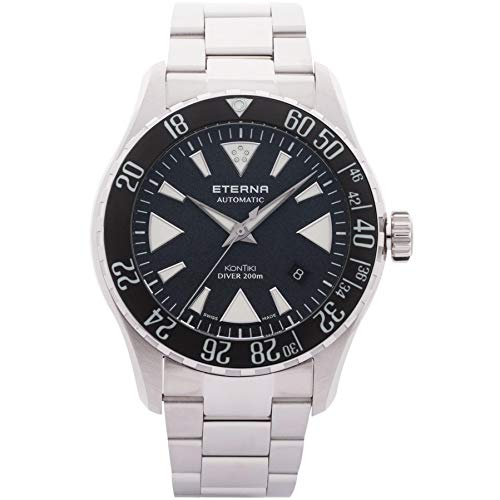 Eterna Men's KonTiki Diver 44mm Steel Bracelet Automatic Watch 1290-41-79-1753