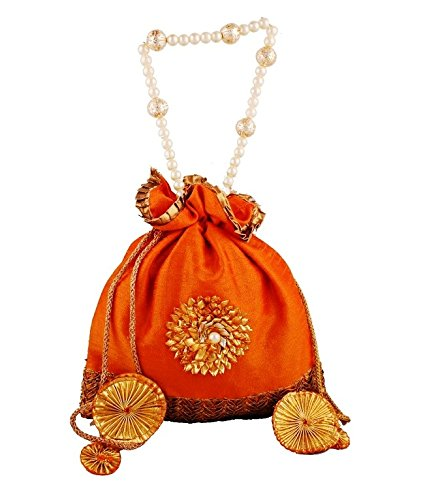 Bombay Haat Ethnic Rajasthani Potli Bag / Clutch / Bridal Clutch  available at amazon for Rs.219