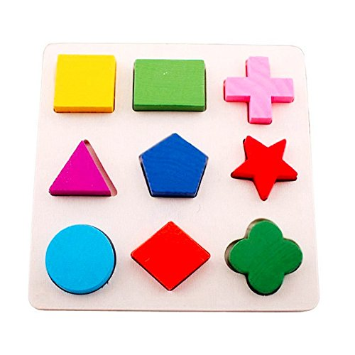 Wooden Learning Geometry Shape Puzzle Educational Toy Montessori Early Learning Set (Style 3)  available at amazon for Rs.299