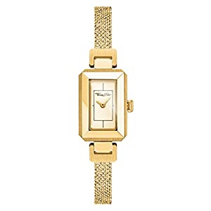 THOMAS SABO Women Women's Watch Mini Vintage Stainless Steel Yellow-Gold-Coloured Milanaise Bracelet, Embossed WA0331-264-207