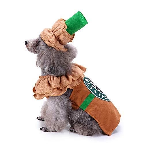 Coppthinktu Haustierkostüm für Welpen, Latte, Halloween, Kaffeebraun, X-Large, Mehrfarbig (Eine Starbucks Kostüm)