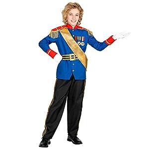 WIDMANN 00177 - Disfraz infantil de príncipe encantador, 140 cm, color azul y negro
