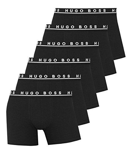 Hugo Boss Herren Boxershorts Unterhosen Boxer Brief 50325404 6er Pack Black (-001)