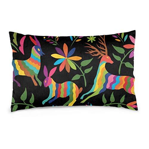 Hunter qiang Fundas de Almohada de algodón Otom Pattern Style Pattern. Coloridas Fundas de Almohada...