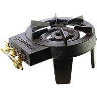 Proweltek-Providus FO003R - Infiernillo de gas con 3 grifos, fundición, color negro