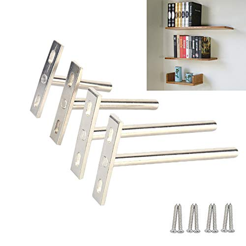 Ouvin 4 piezas de soportes de estante ocultos de metal ajustable estantería...