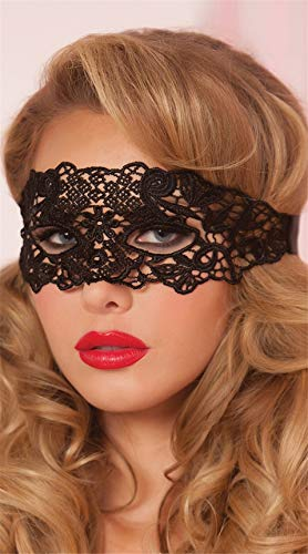 Zorux Sexy Babydoll Sexy Dessous Sexy Hollow Lace Mask Erotische Kostüme Frauen Sexy Dessous Hot Cosplay Party Masken Schwarz (Erotische Kostüme Uk)