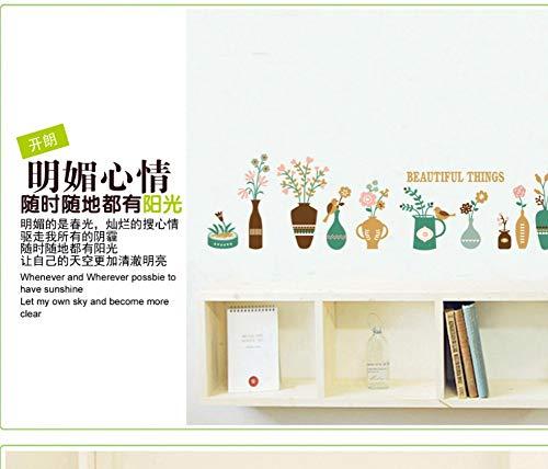 Zxfcczxf Vase Baseboard Korea Wandaufkleber Kreative Diy Dekoration Wandaufkleber 55 * 90 Cm