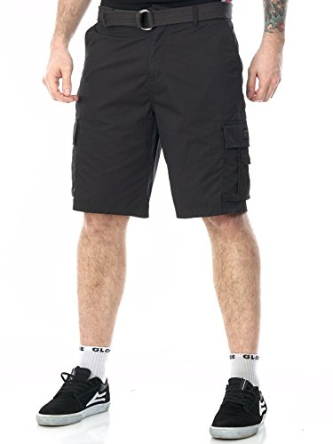 Pantaloni Corti Con Tasconi Quiksilver Rogue Beats - 21 Inches Tarmac (38 Vita = Eu 52 , Nero)