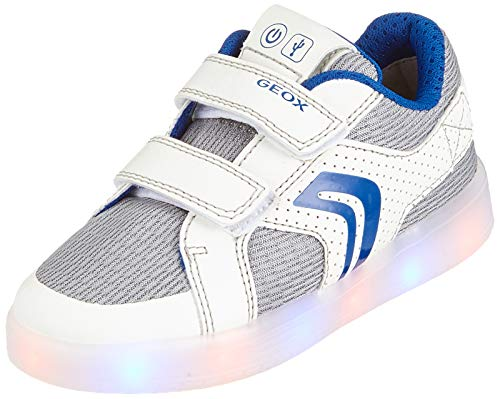 Geox j kommodor boy a a, scarpe da ginnastica basse bambino, (white/royal c0293), 31 eu