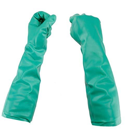 NJ Langfristige ölbeständige Haushalts-industrielle Handschuhe/Nitrilgummi-chemische Betriebsbeschichtungs-Säure und Alkali-beständige Handschuhe (Farbe : Green, größe : L40cm)