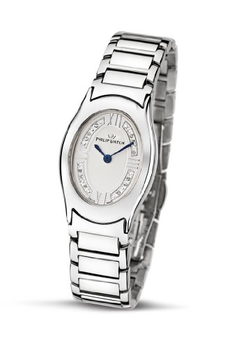Philip Ladies Jewel Analogue Watch R8253187615 with Quartz Movement, White Dial and Stainless Steel Case