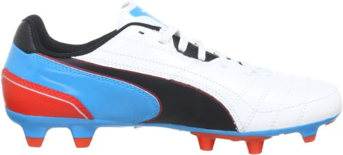 Puma Momentta FG Jr Unisex-Kinder Fußballschuhe Weiß (metallic white-black-hawa 03)