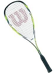 Wilson Hammer Tech Lite 1/2 CVR Raqueta de Squash, Unisex Adulto, Amarillo / Azul / Blanco, Talla Única