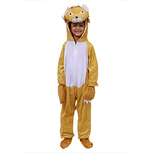 Fancy Steps Lion Animal with Hand and Shoes Cover Fancy Dress Costumes Complete Set, 2 to 4 Years