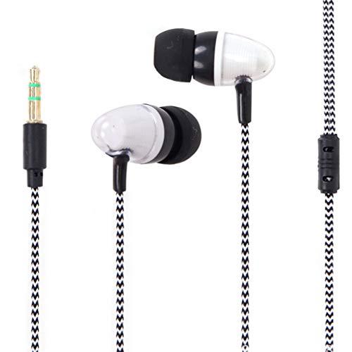 Floridivy In-Ohr Kopfhörer Schwerer Baß Tonqualität Musik Headset Noise Reduction Woven Wire 3.5mm Sport Earbuds