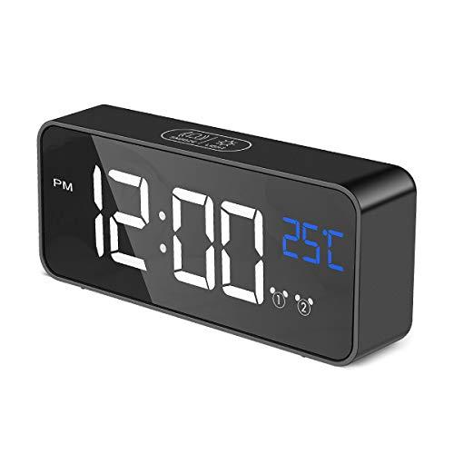 Aitsite Despertador Digital Electrónico Reloj Despertador Alarma Dual,Digital Alarm Clock Inteligente...