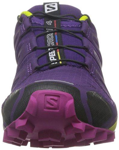 Salomon Speedcross 4 Women's Trail Laufschuhe - AW16 cosmic purple-deep dalhia-gecko green