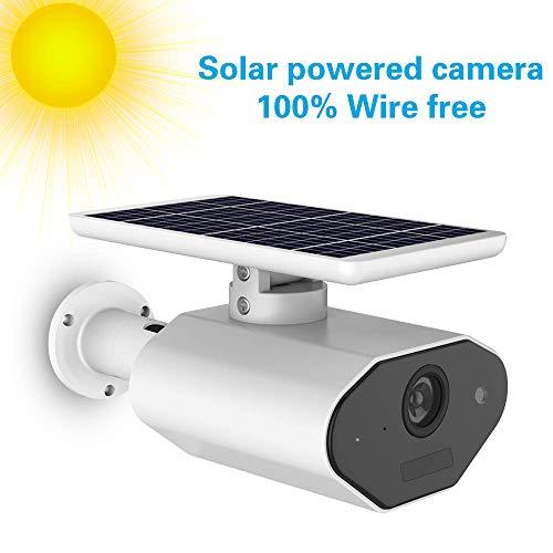 Solarbetriebene Wireless Home Security Kamera, 2,4 GHz WiFi IP-Kamera im Freien mit Bewegungserkennung Nachtsicht, Überwachungskamera Kompatibel mit Alexa, IP65 Wasserdicht Wetterfest 2,4 Ghz Wireless-kamera