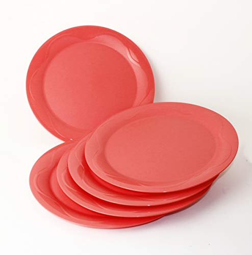 Junge Welle TUPPERWARE Teller Picknickteller 5X Apricot + Geschenk 1-2 Teile Zufallswahl