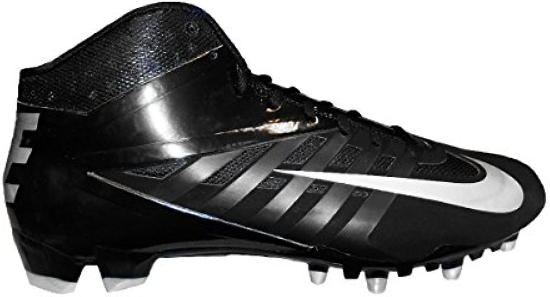 Nike Vapor Pro 3/4 TD Football Cleats (12.5  Black/Metallic SilverBlack)