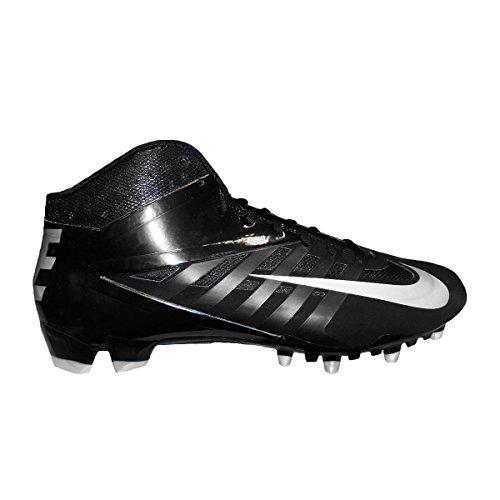 Nike Vapor Pro 3/4 TD Mens Molded Football Cleats (15, Black/Metallic Silver-Black) (Cleats Silver Football Nike)