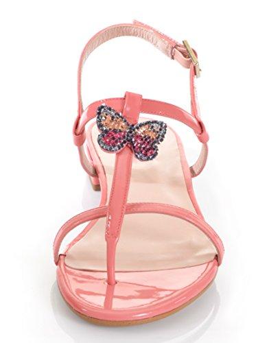 Damen Sandalette by Alba Moda Rosa