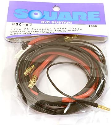 Square R/C RC Model Hop-ups SQ-SGC-60 LiPo 2S European Charge Cable, Small (600mm) | Couleur Rapide