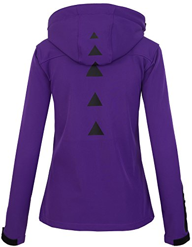 Rock Creek Damen Softshell Jacke Übergangs Jacke Windbreaker Regenjacke Damenjacken Outdoorjacke Windjacke D-371 Violett S - 3