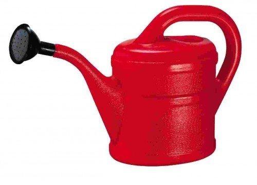 Gießkanne Inhalt 2 Liter aus Kunststoff, rot - 3