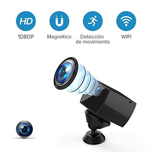 TAOCOCO Cámara Espía Oculta 1080P FHD Mini WiFi Cámara IP de Seguridad/Visión Nocturna por Infrar Rojos Vigilancia Movimiento de iPhone/Android Phone/iPad/PC