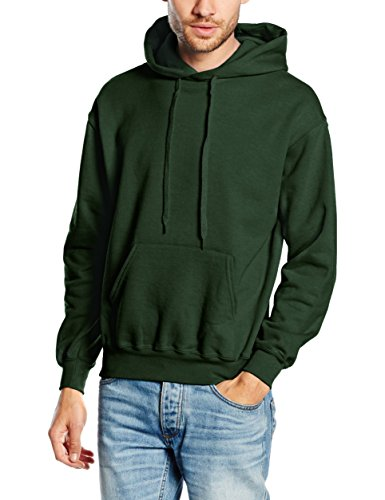 fruit-of-the-loom-classic-cappuccio-uomo-green-bottle-green-large