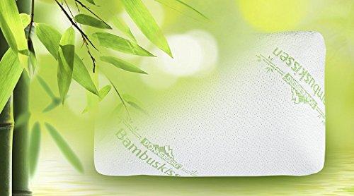 Oreiller à mémoire de forme Donnerberg ® Coussin en fibre de bambou – Idéal pour les cervicales – Marque allemande image 1