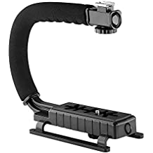 Neewer C Forma de acción de vídeo soporte de mango estabilizador para videocámaras DV, DC, cámara réflex digital/Point y Shoot Cámara–Negro