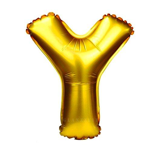 n Luftballons Buchstaben A zu Z Zahlen 0 zu 9 Geburtstag Jubiläum Hochzeit Babyparty Deko Ballons (Buchstabe Y) (Happy Birthday Ballons Mit Namen)