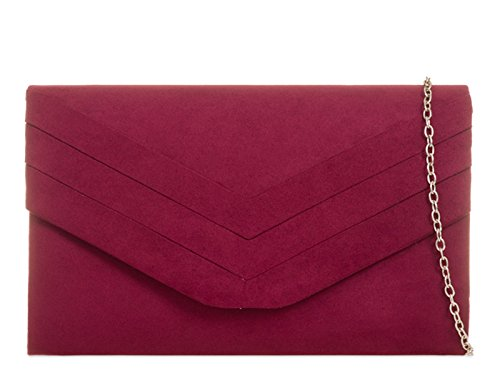 fi9 , Damen Clutch Rot burgunderfarben