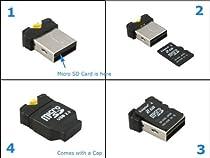 System-S Très petit adaptateur USB A pour cartes microSD / SDHC / T-Flash