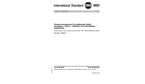 Buy ISO 4850:1979, Personal eye-protectors for welding and related