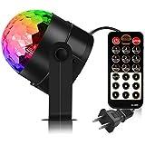 QITECO Crystal Ball Party Licht Disco Ball Strobe Lighting Rotierende Lampe 5W RGB LED Sound Aktiviert DJ Karaoke Bühnenlicht Kinder Geburtstag Geschenk Hausbedarf