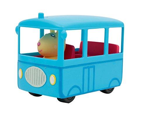 Giochi Preziosi-Peppa Pig-Véhicule avec Figurine, Camping-Car Bus Scolaire